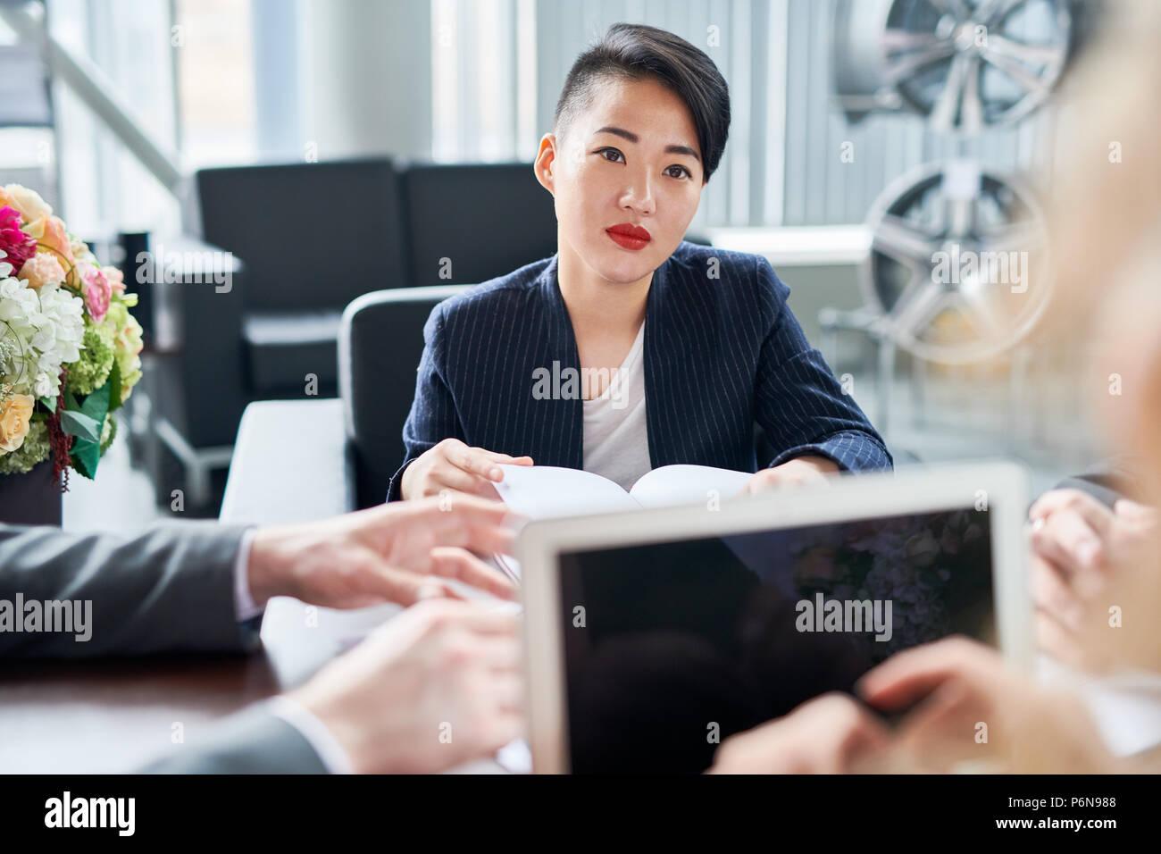 Woman at meeting - Stock Image