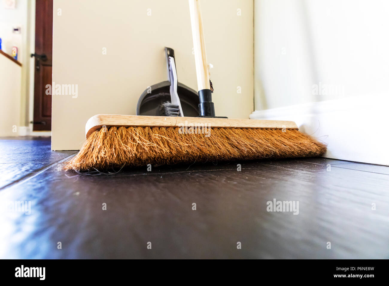 Broom, sweeping brush, brushes, brush, dustpan and brush, dustpan, brooms, floor sweep, broom head, clean, cleaner, floor, cleans, Stock Photo