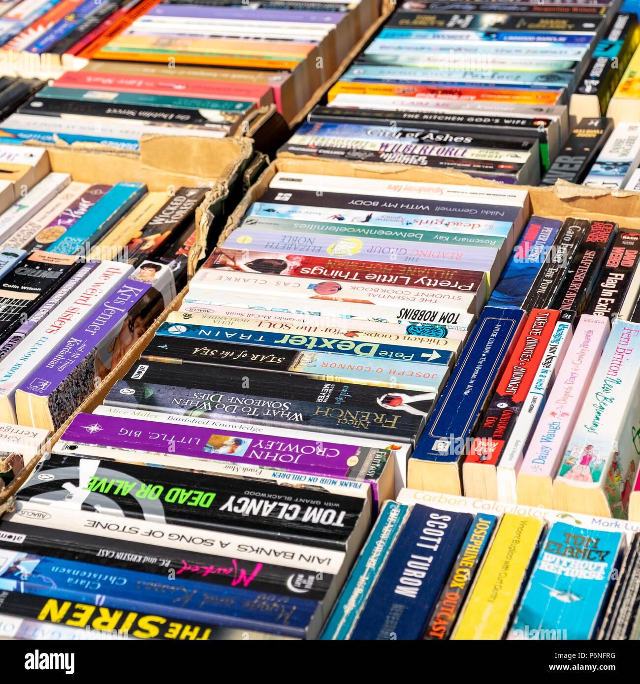 Paperback books - Stock Image