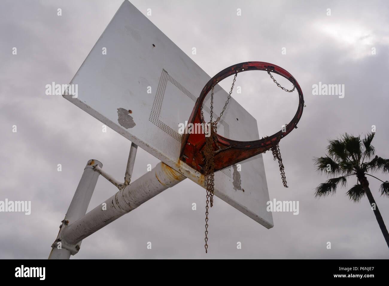 Sad lonely gloomy forgotten sport outdoors depressed mental health public - Stock Image