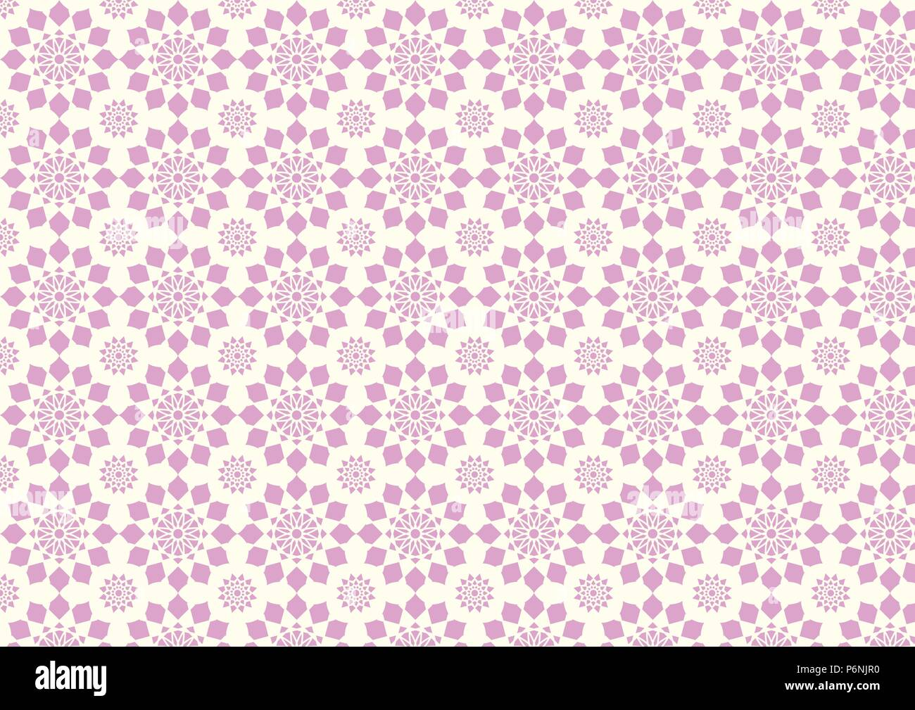 Sweet pink modern flower pattern and small thorn. Pretty vintage blossom style for love and cute design. - Stock Image