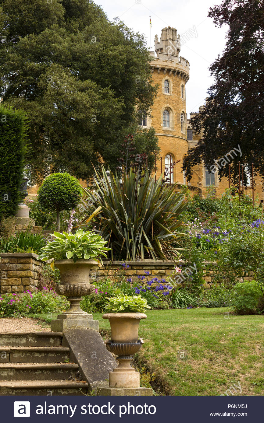Belvoir Castle Gardens, Leicestershire, England UK Stock Photo ...