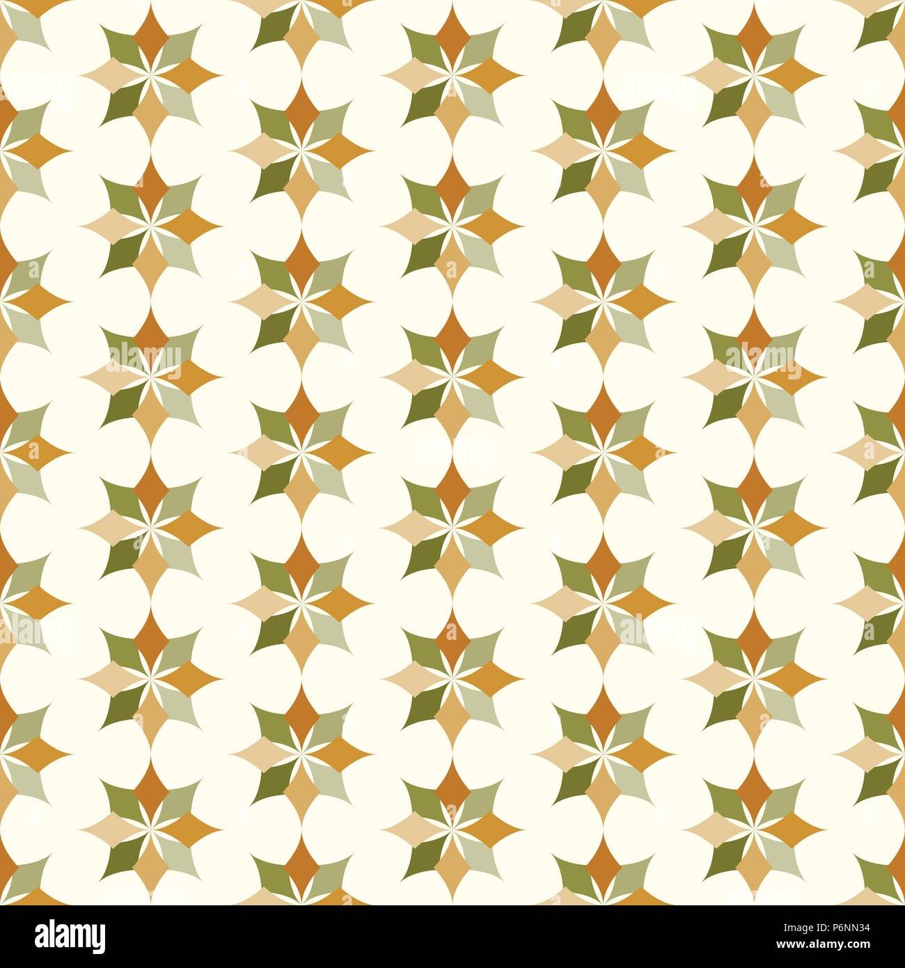 Dark brown and green modern classic bloom seamless pattern. Abstract blossom style for graphic and retro design. - Stock Vector