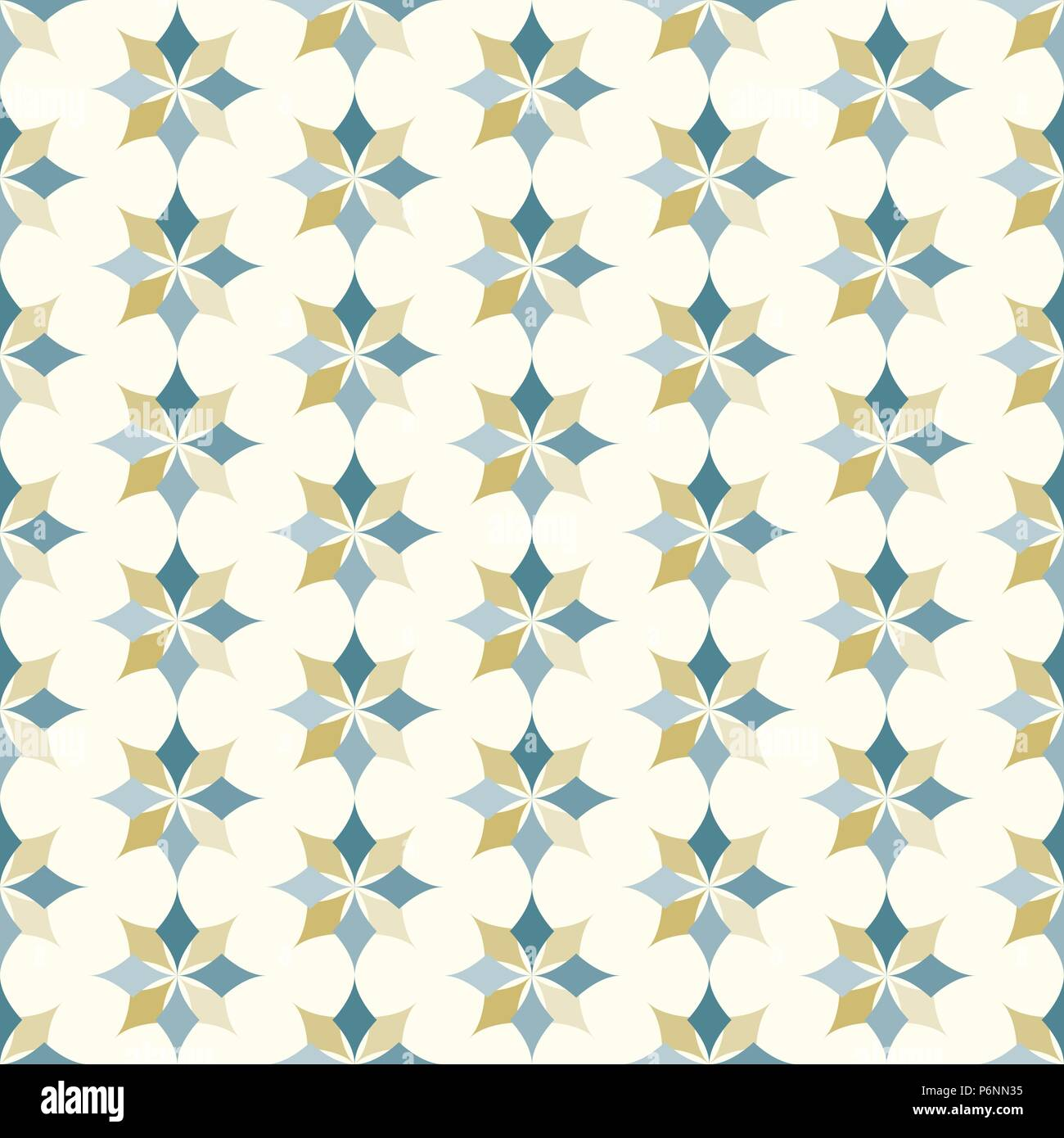 Dark blue and brown modern classic bloom seamless pattern. Abstract blossom style for graphic and retro design. - Stock Vector
