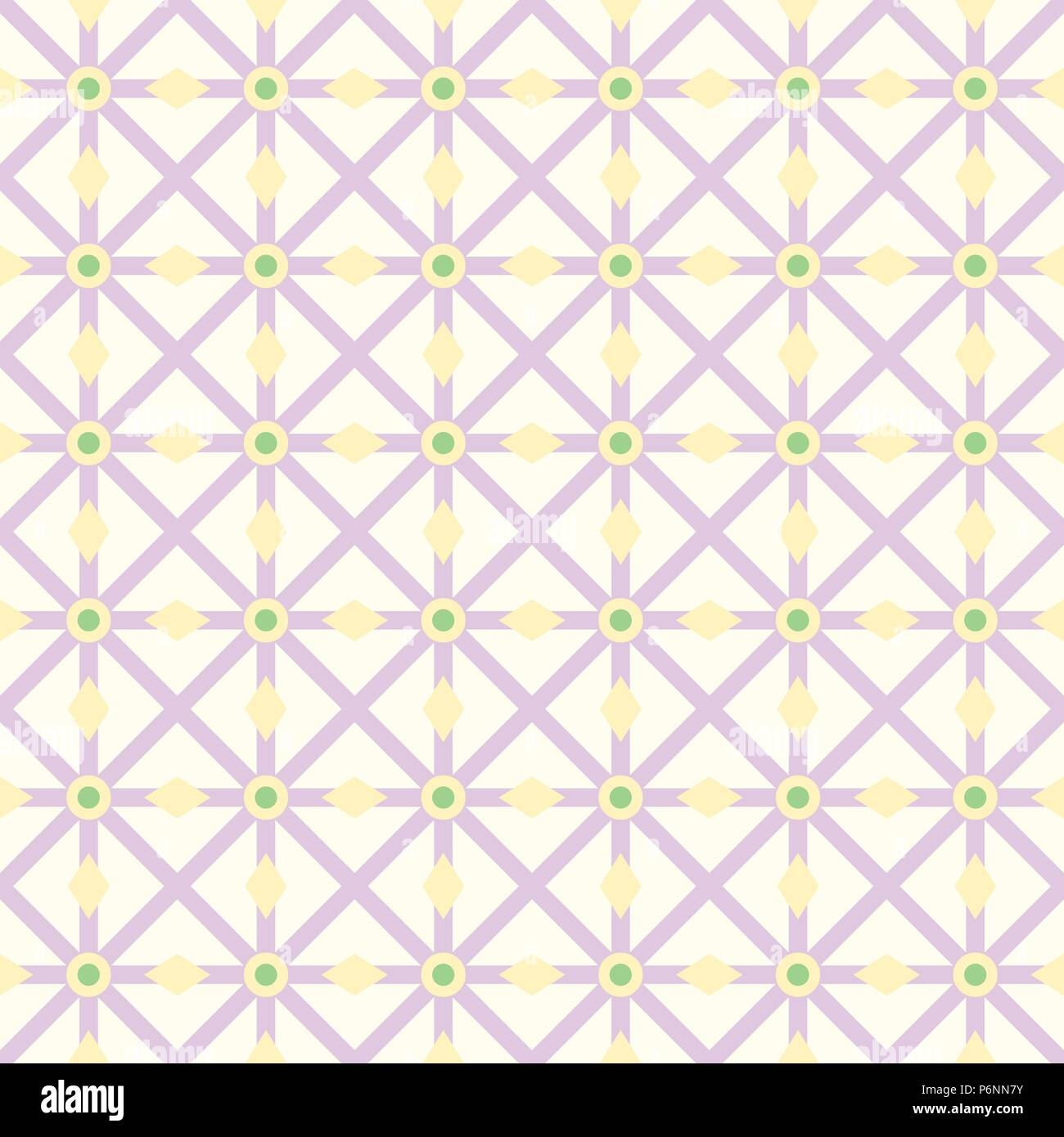 Purple asterisk or crossed line and circle and triangle seamless pattern. Abstract and classic pattern style for design - Stock Vector