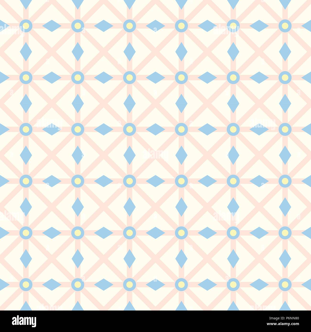 Orange asterisk or crossed line and circle and triangle seamless pattern. Abstract and classic pattern style for design - Stock Vector