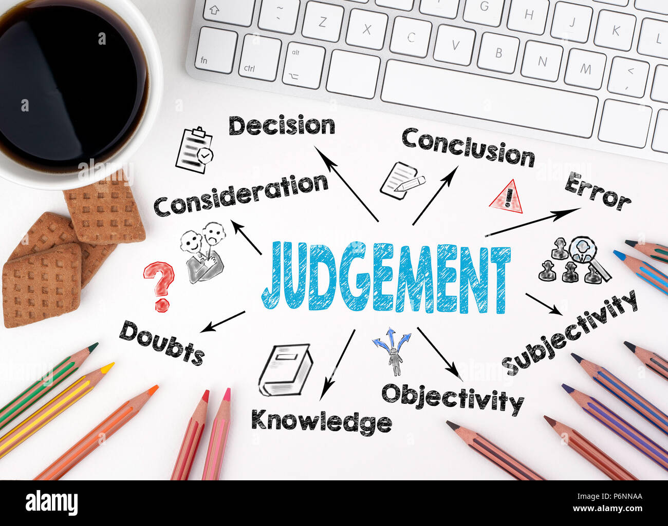 Judgement, Law and justice concept - Stock Image