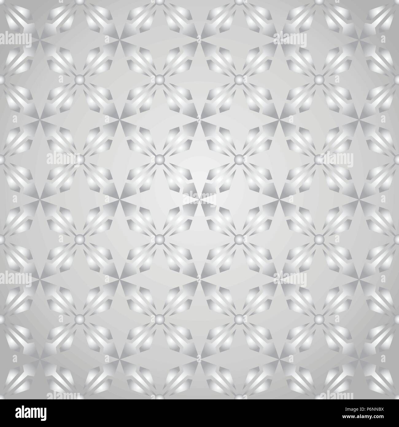 Silver abstract arrow and circle in rectangle shape seamless pattern. Modern pattern for graphic or abstract design. - Stock Vector