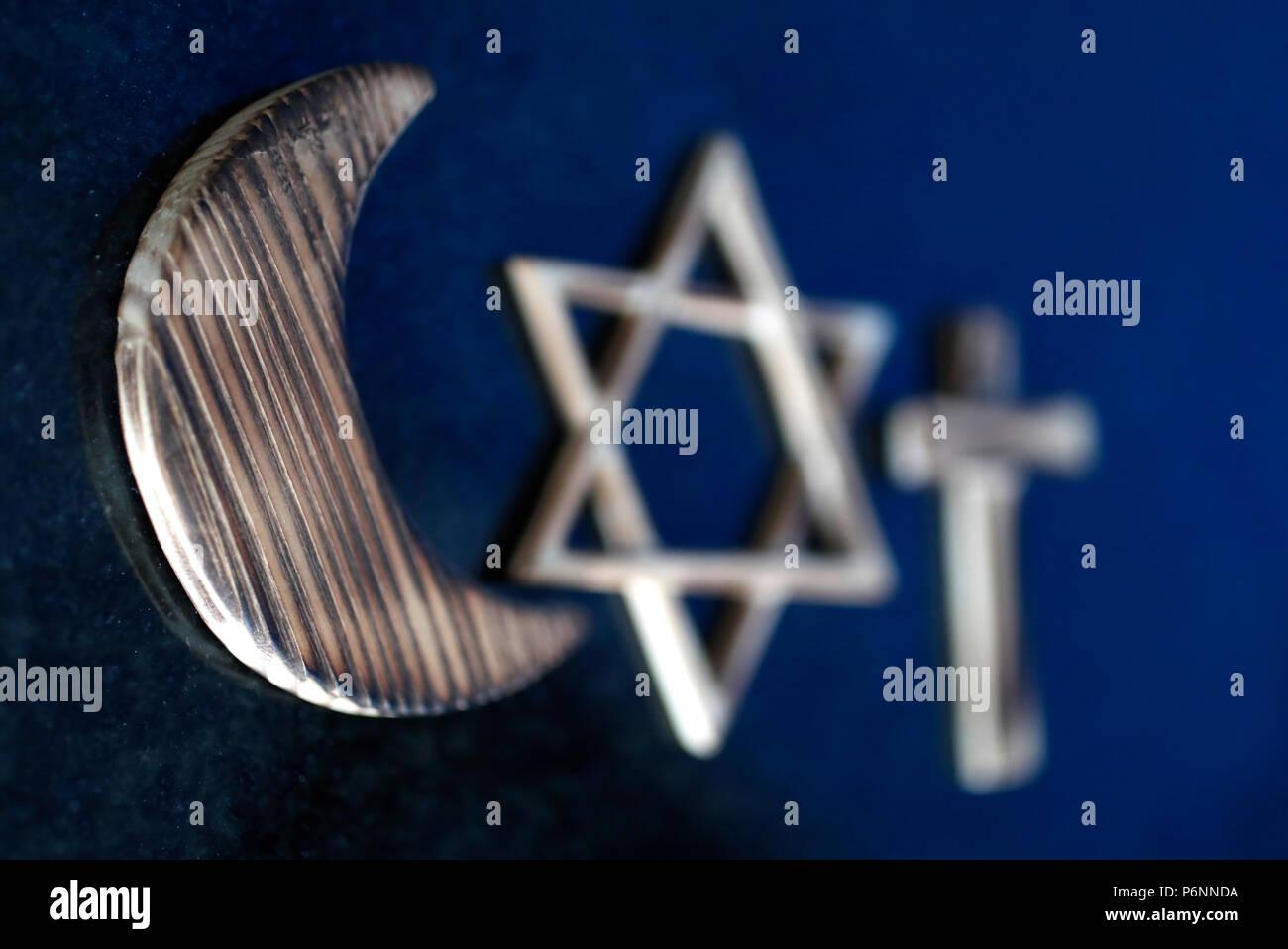Christianity Islam Judaism 3 Monotheistic Religions Jewish Star