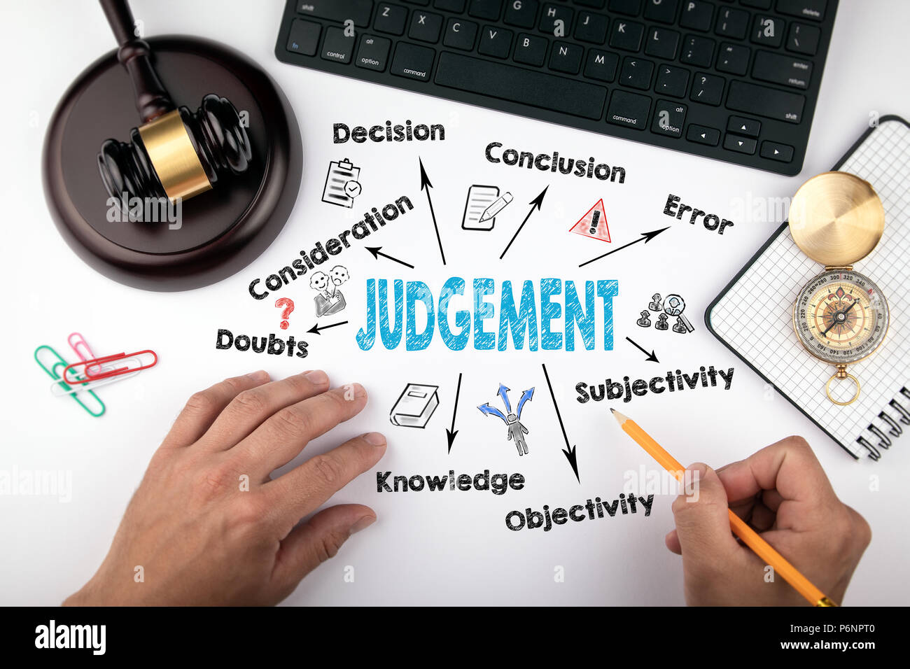 Judgement Law and justice concept - Stock Image