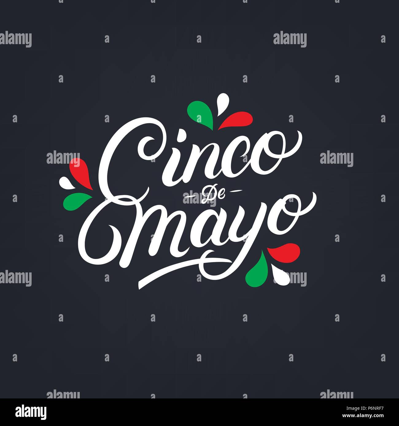 cinco de mayo hand written lettering quote modern brush calligraphy