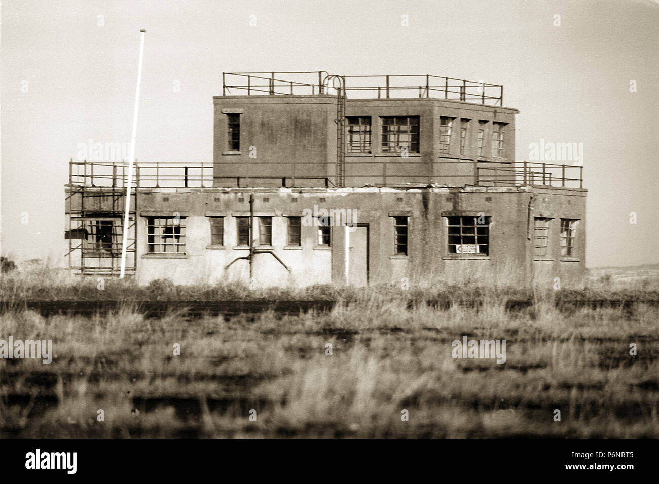 Control tower, USAAF Langford Lodge - Stock Image