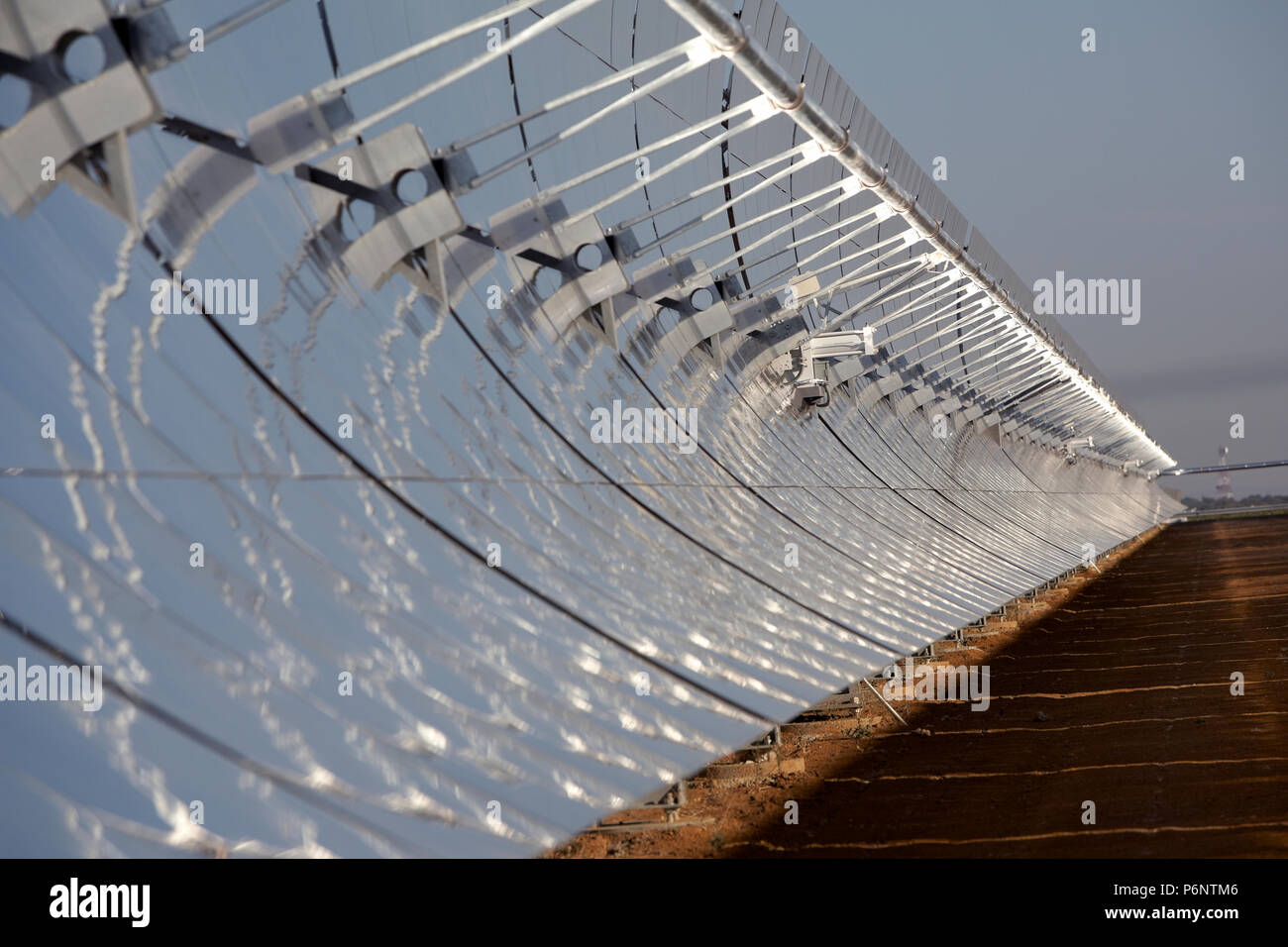 Concave Mirror Technology Of The Solar Power Plant La Risca Near Badajoz Extremadura In Spain Stock Photo Alamy
