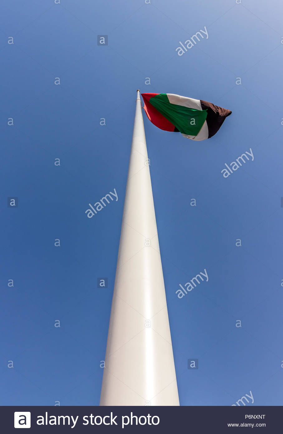 UAE Flag a Symbol of Pride and National Unity. Stock Photo