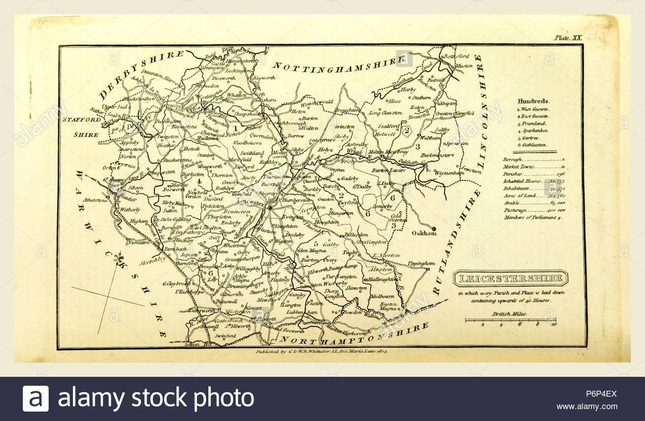 Leicestershire Uk Map.A Topographical Dictionary Of The United Kingdom Leicestershire Map