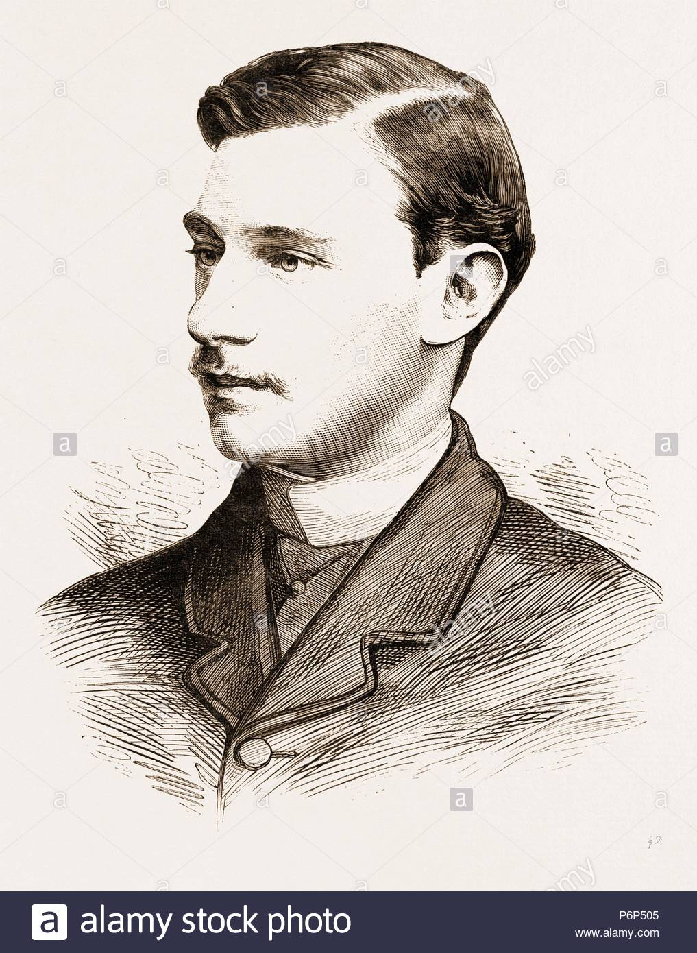THE EARL OF YARBOROUGH (SECONDER IN THE HOUSE OF LORDS), 1881. - Stock Image