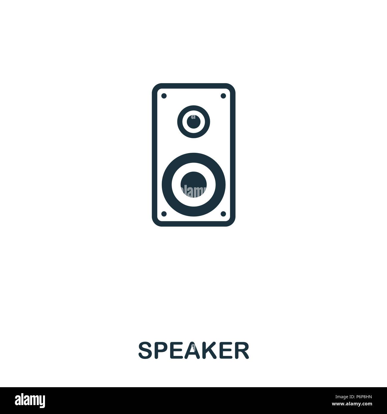Speaker Icon Line Style Icon Design Ui Illustration Of Speaker