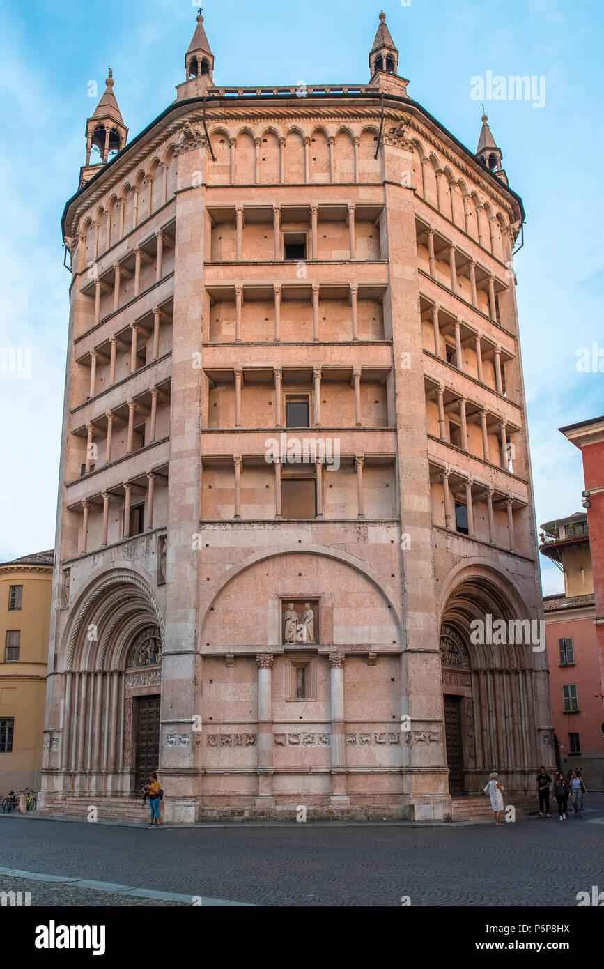 Parma baptistery, Italy. - Stock Image