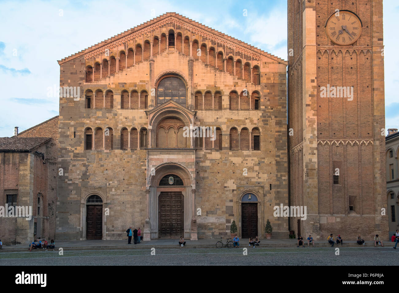 Parma Duomo (cathedral), Italy. - Stock Image