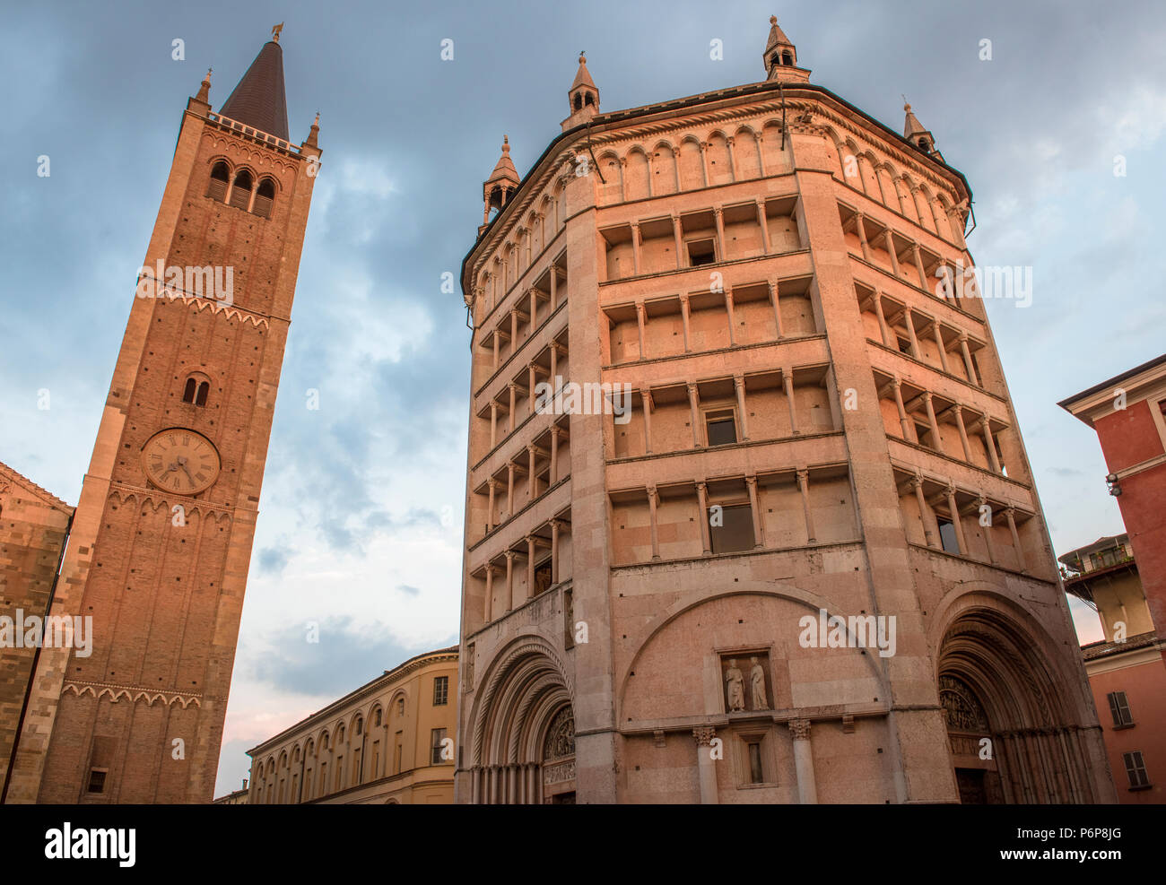 Baptistery, Parma, Italy. - Stock Image