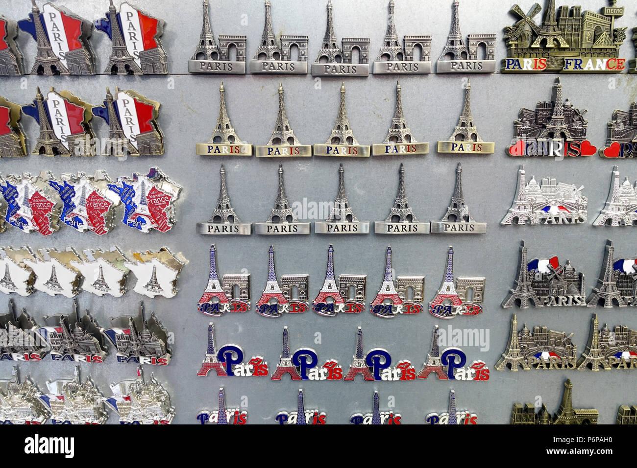Souvenir shop in Paris  Eiffel tower  Paris  France Stock
