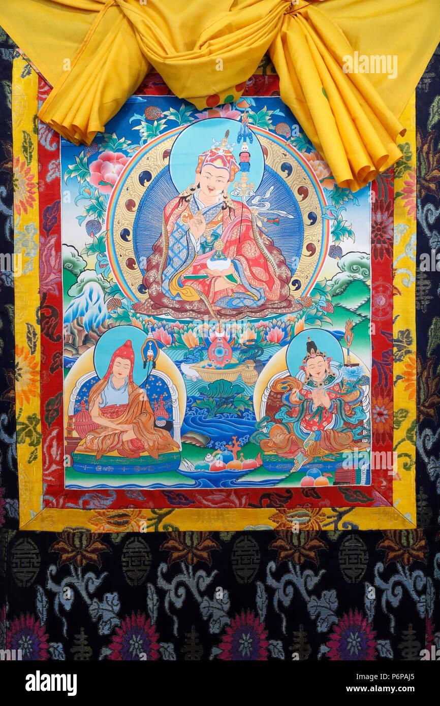 Padmasambhava also known as Guru Rinpoche. - Stock Image