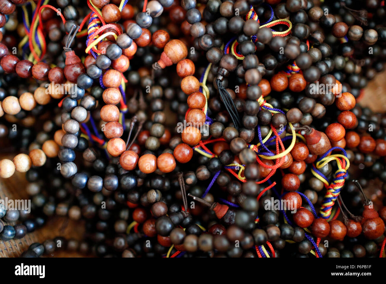 Buddhist prayer beads or malas. Saint-Pierre en Faucigny. France. - Stock Image