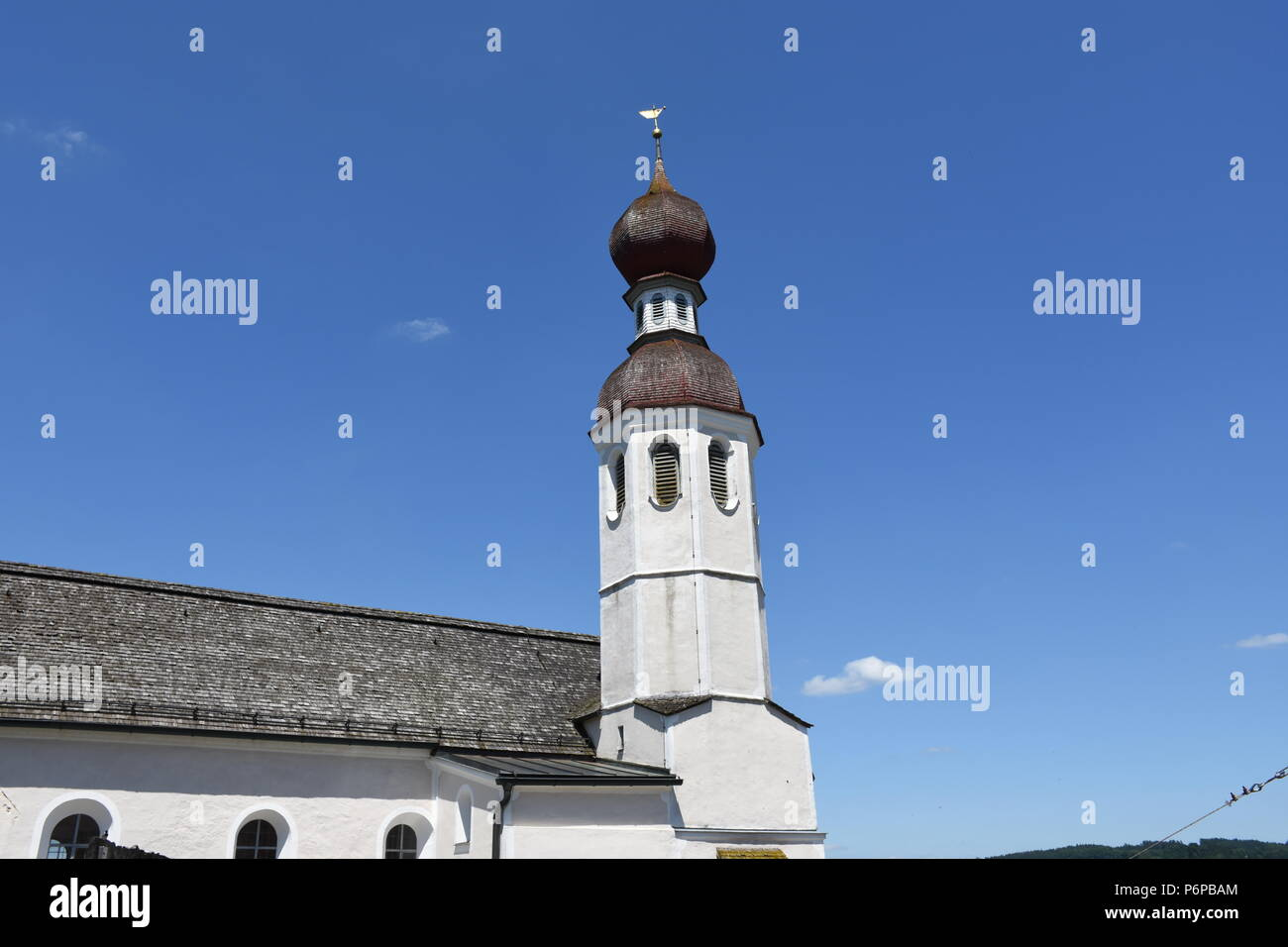 Filialkirche St. Andreas in Thalkirchen Oberbayern - Stock Image