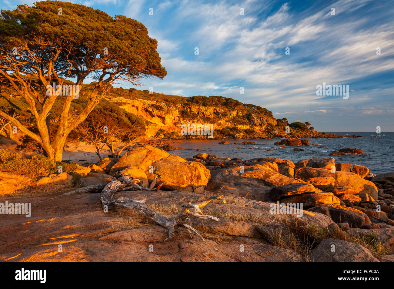 Sunrise at Bunker Bay in Leeuwin-Naturaliste National Park. - Stock Image