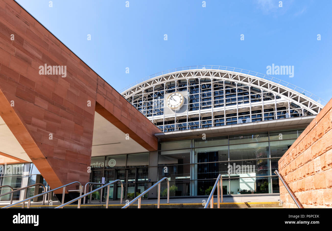 The new building that forms part of the Manchester Central Convention Centre in Manchester city centre, UK - Stock Image