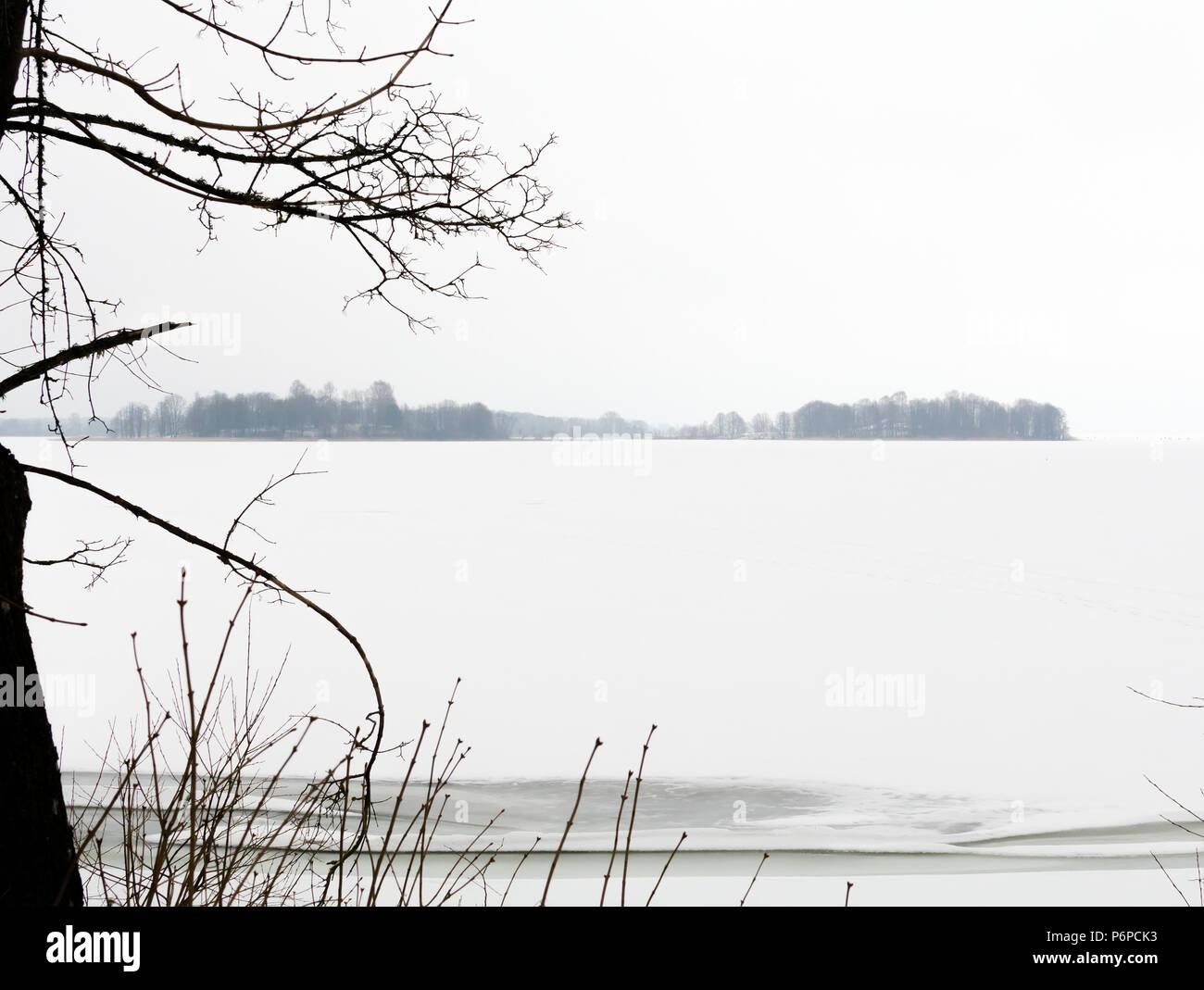 Minimalistic tranquil landscape  Natural background