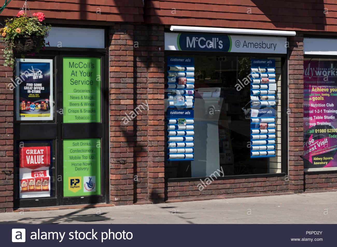High Street, Amesbury, Wiltshire, England, UK - Stock Image