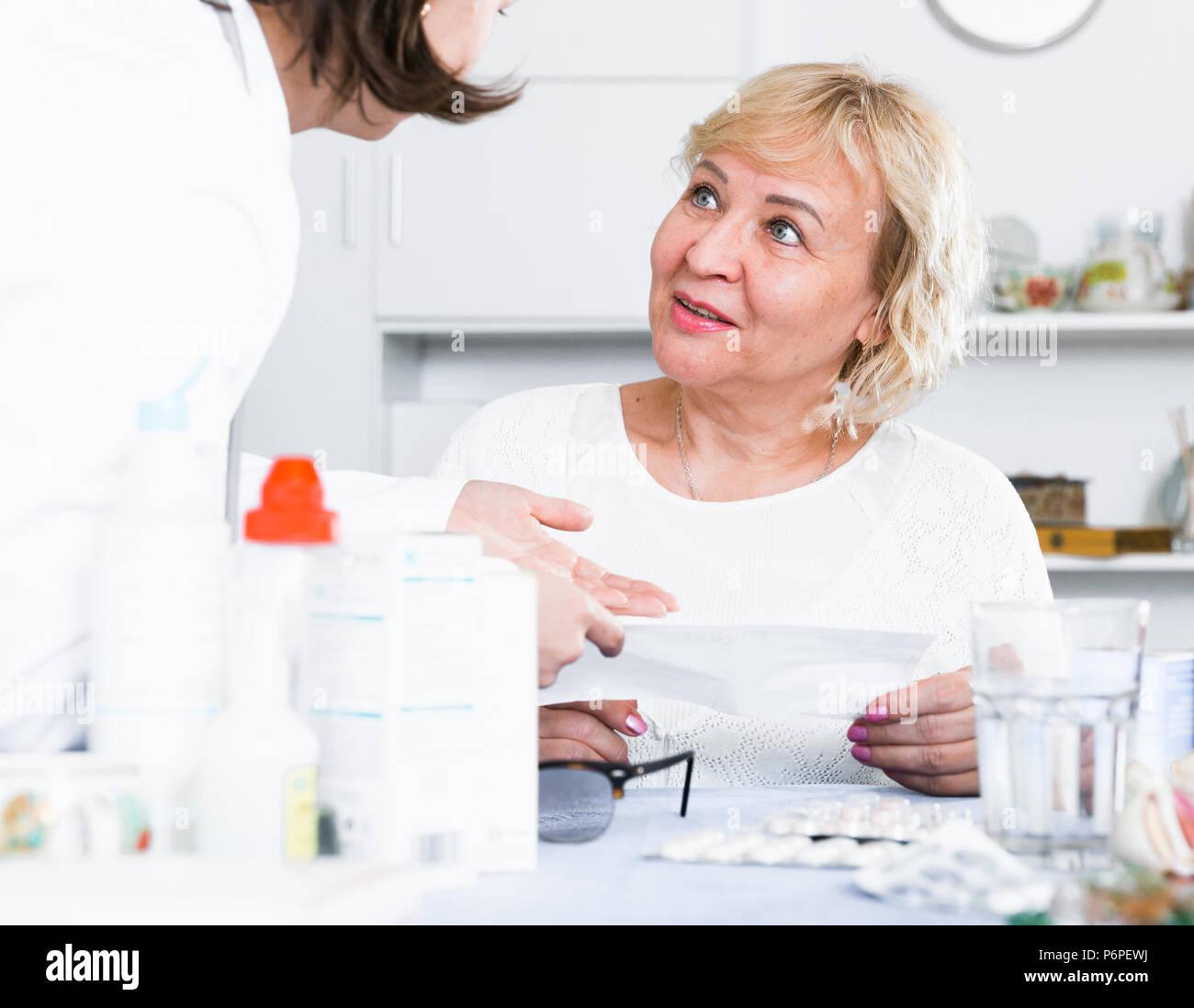 Elderly sexy woman