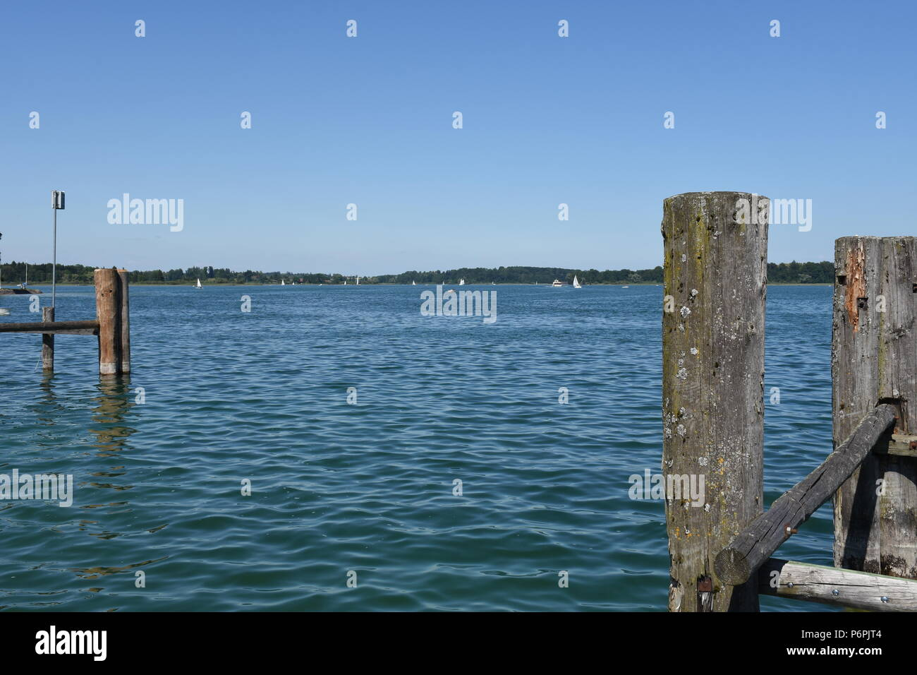 Chiemsee bei Prien in Oberbayern - Stock Image