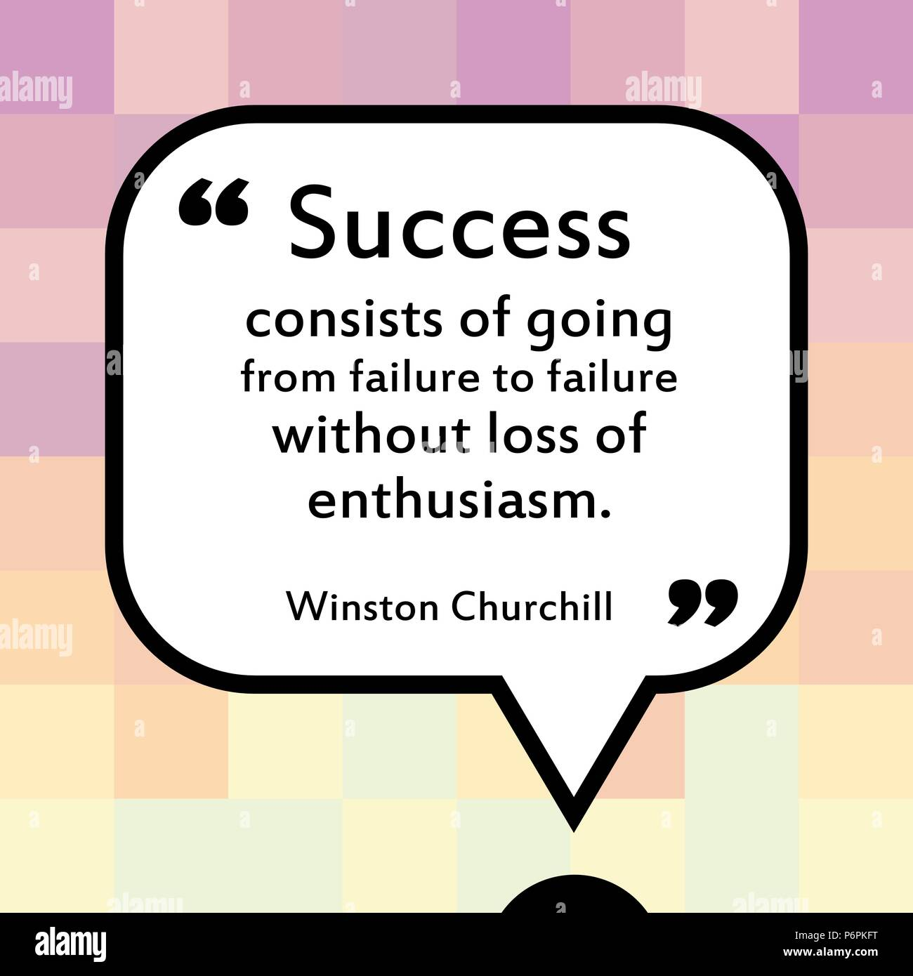Inspirational Quotes About Failure: Winston Churchill Quote Stock Photos & Winston Churchill
