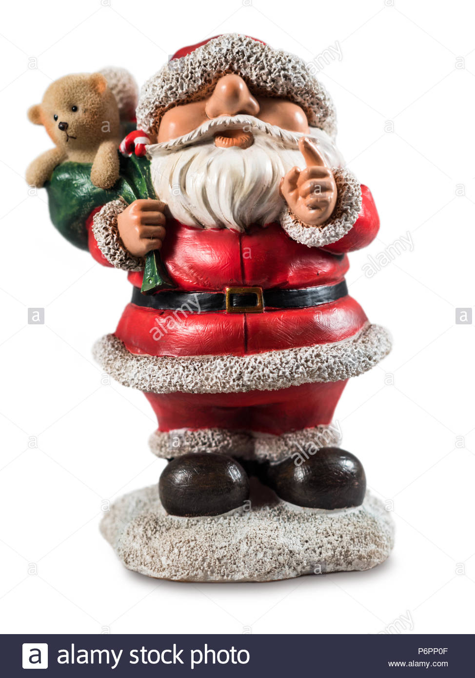 Jolly Father Christmas ornament - Stock Image