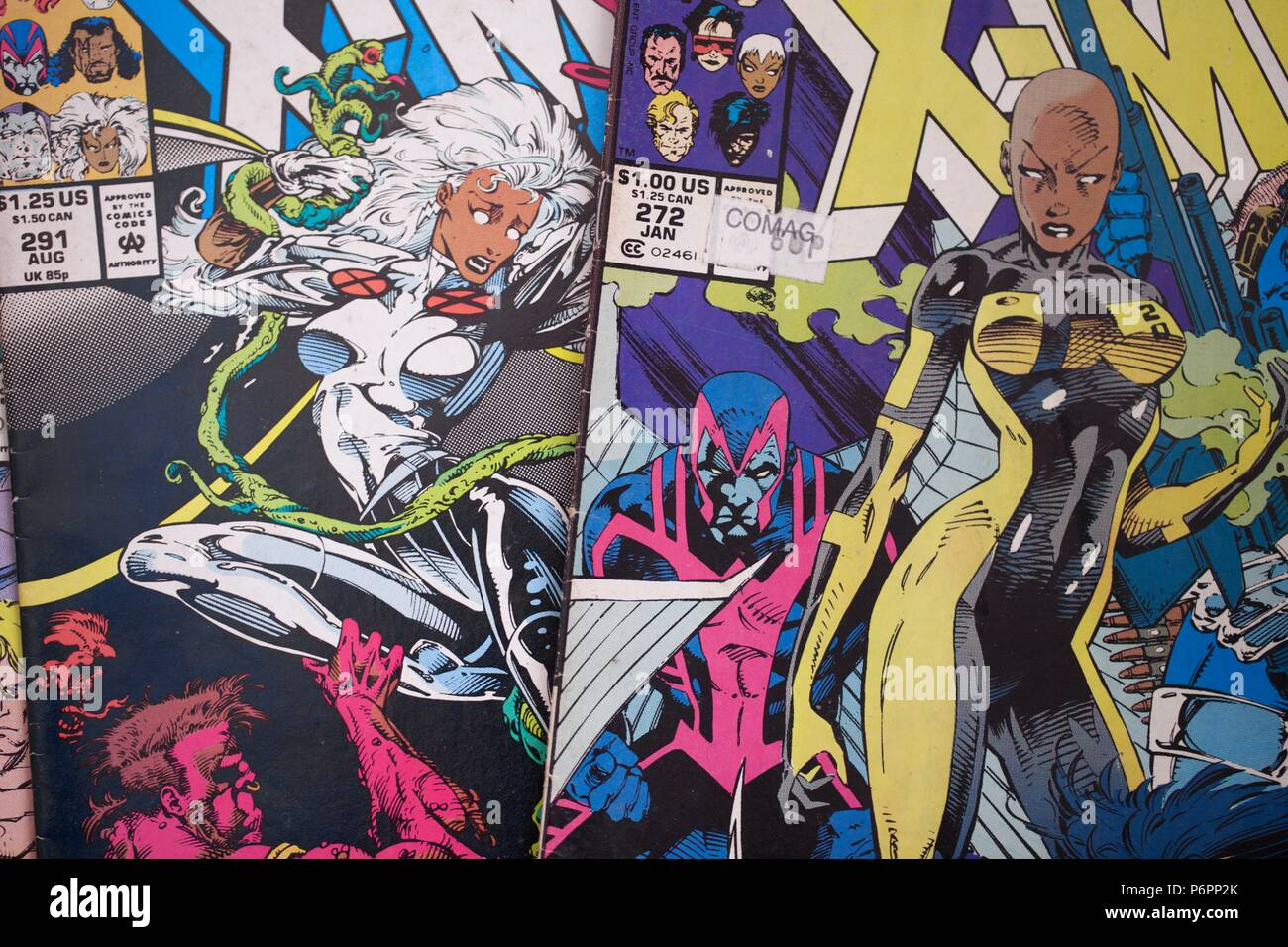 The X-Men comic book published by Marvel Comics Stock Photo