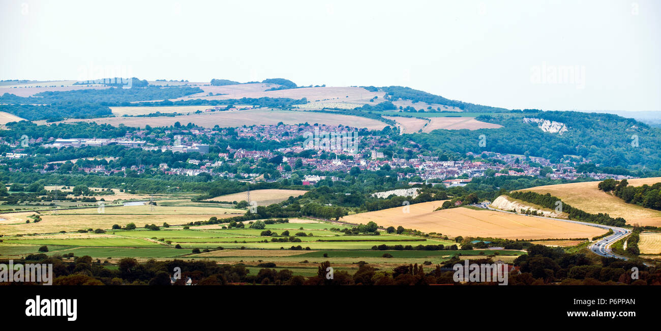 The East Sussex County Town of Lewes, England - Stock Image