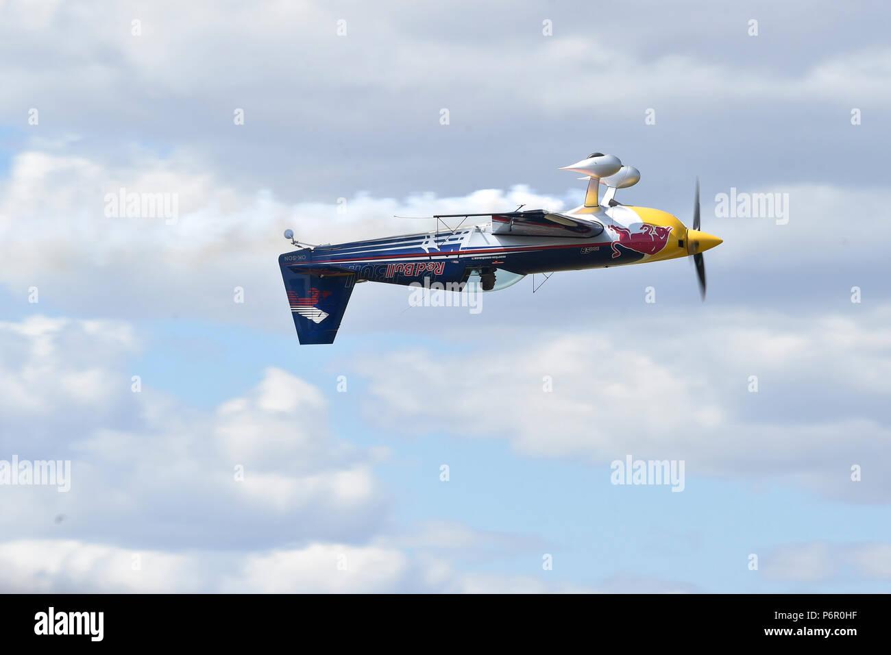 Breclav, Czech Republic  01st July, 2018  Czech aerobatics