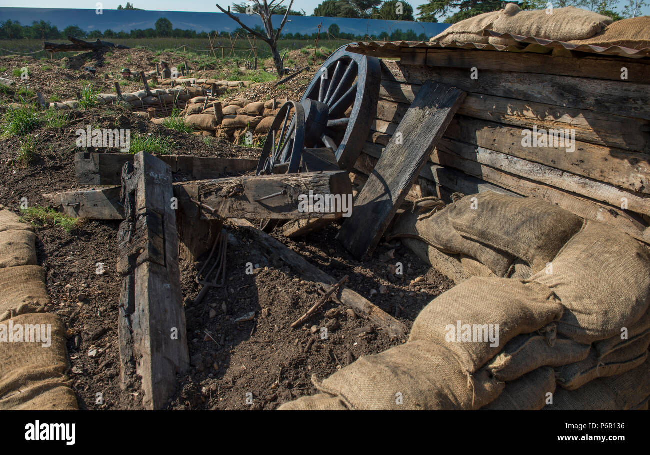 Trenches In Wwi Stock Photos & Trenches In Wwi Stock Images