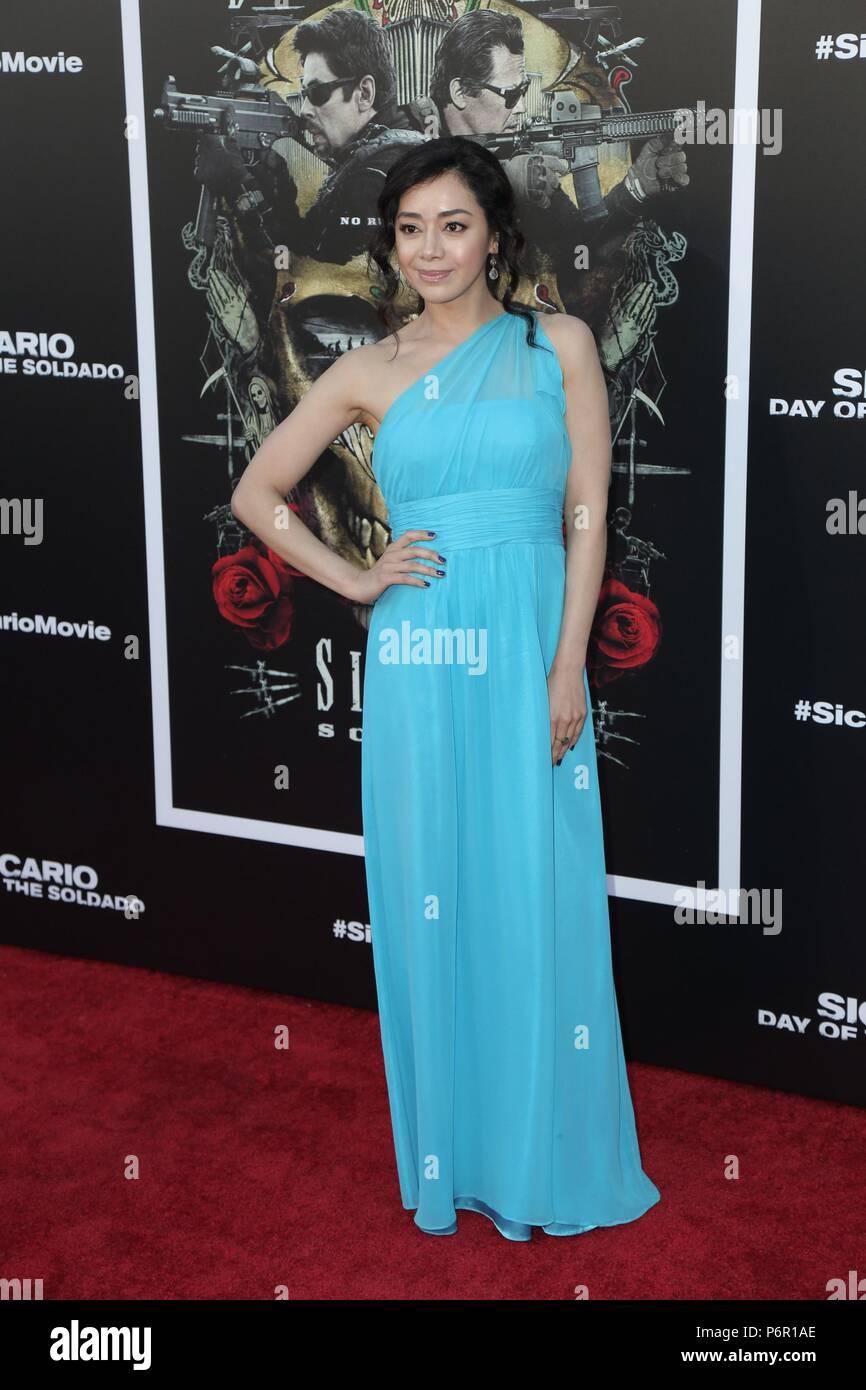 Aimee Garcia at arrivals for SICARIO: DAY OF THE SOLDADO Premiere, Regency Village Theatre - Westwood, Los Angeles, CA June 26, 2018. Photo By: Priscilla Grant/Everett Collection Stock Photo