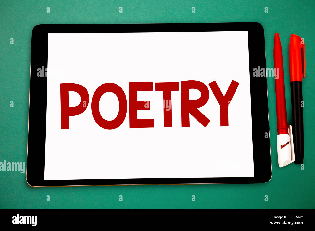 Conceptual hand writing showing Poetry. Business photo showcasing ...