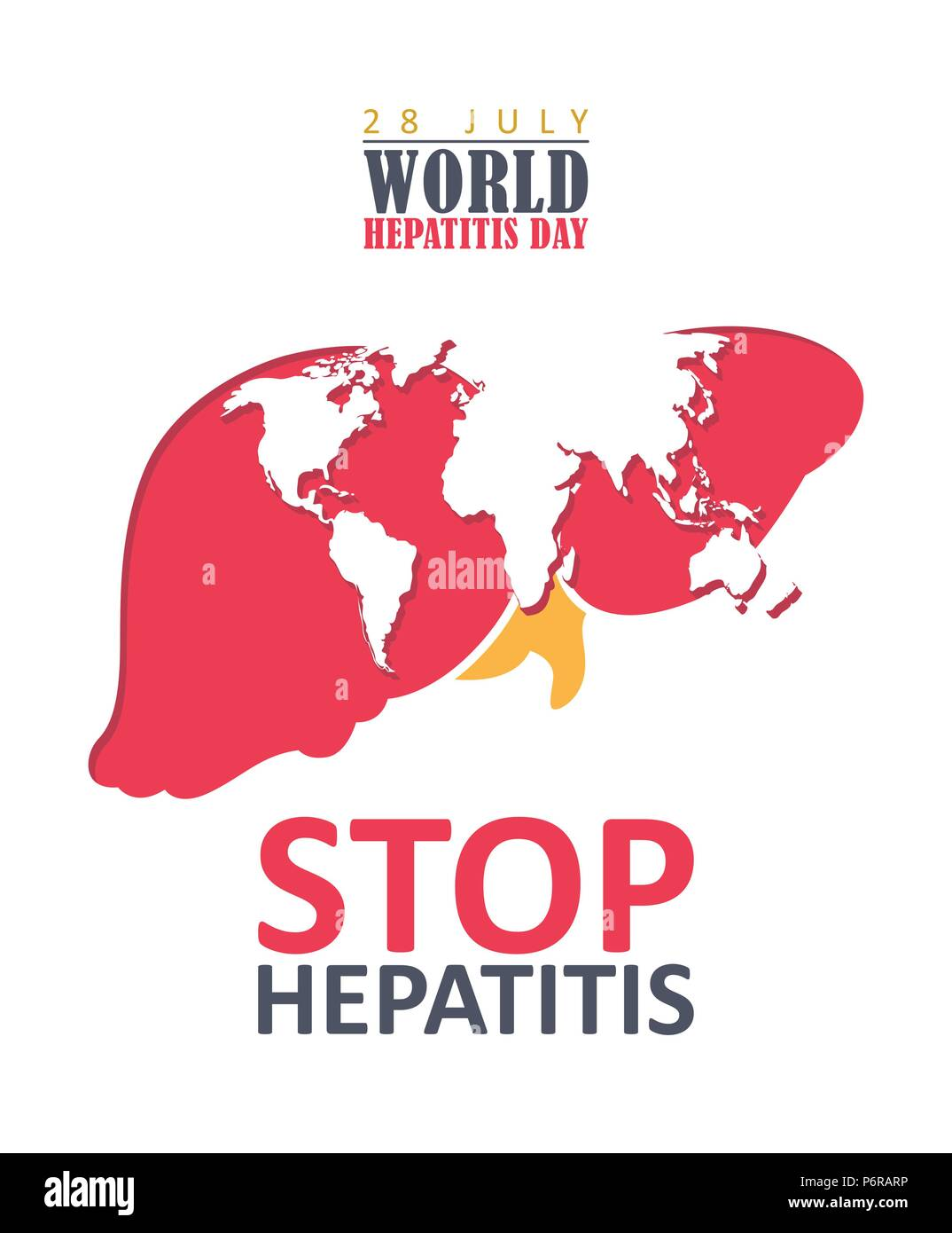 Hepatitis c stock photos hepatitis c stock images page 2 alamy world hepatitis day vector poster in modern flat design on white background 28 july thecheapjerseys Gallery