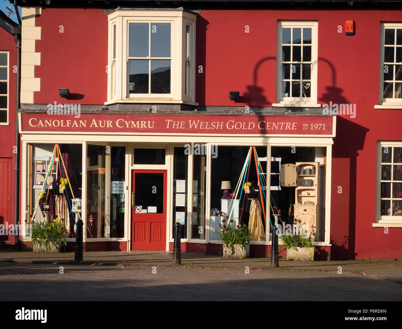 Welsh Gold Centre Tregaron Ceredigion Wales Stock Photo