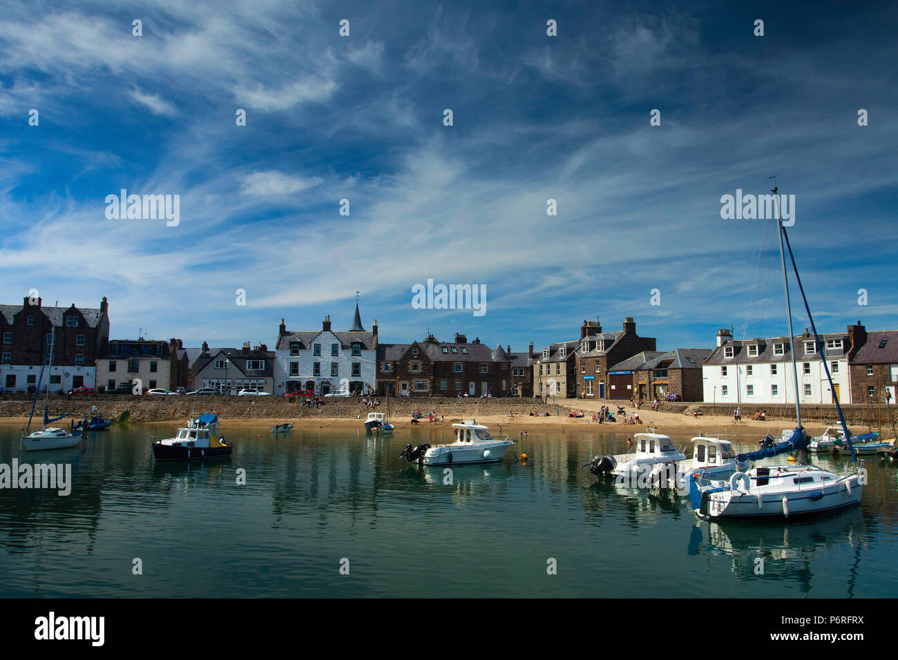 Stonehaven and Stonehaven Harbour, Aberdeenshire, Scotland - Stock Image