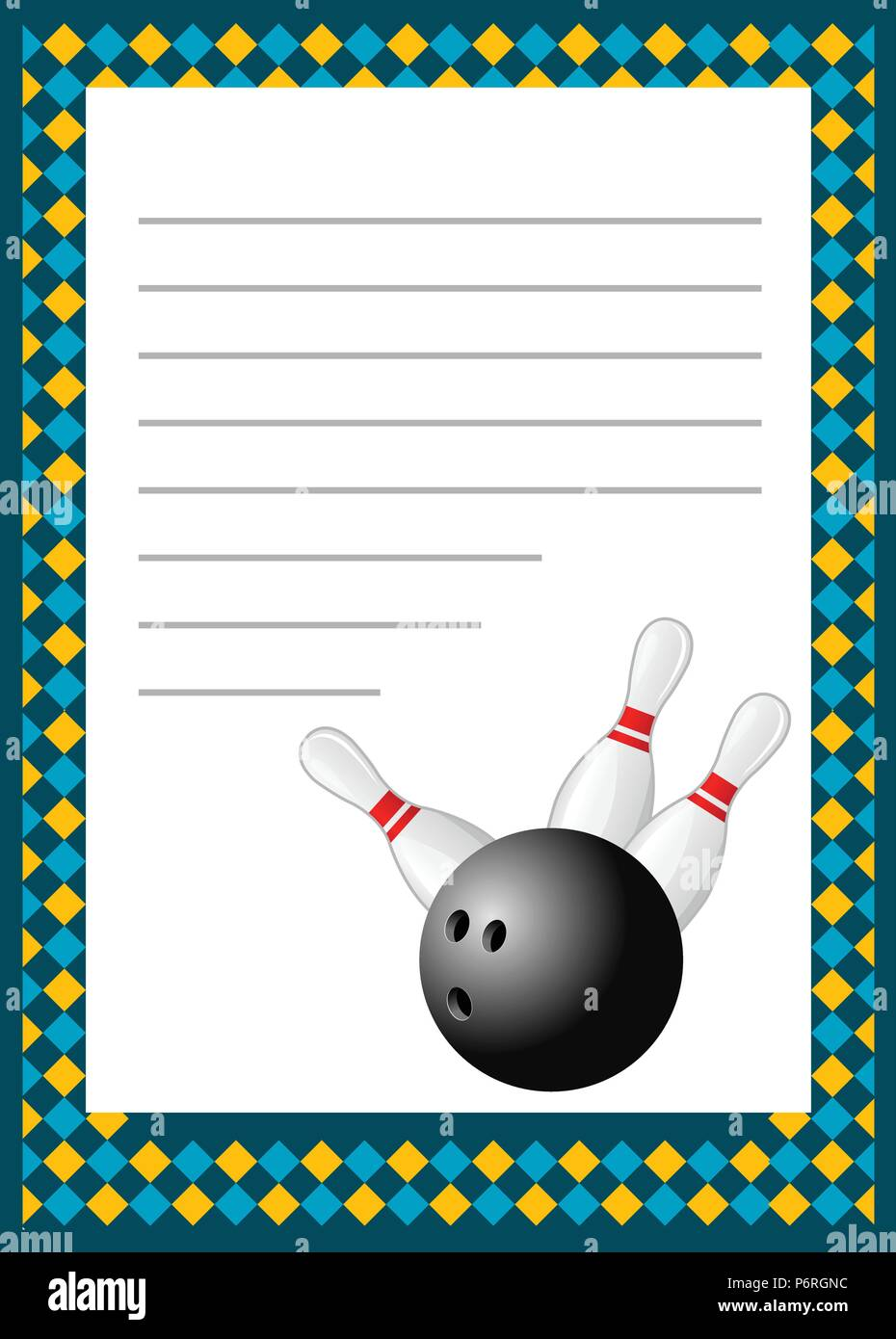 Bowling Tournament Invitation Blank Template Bowls Poster