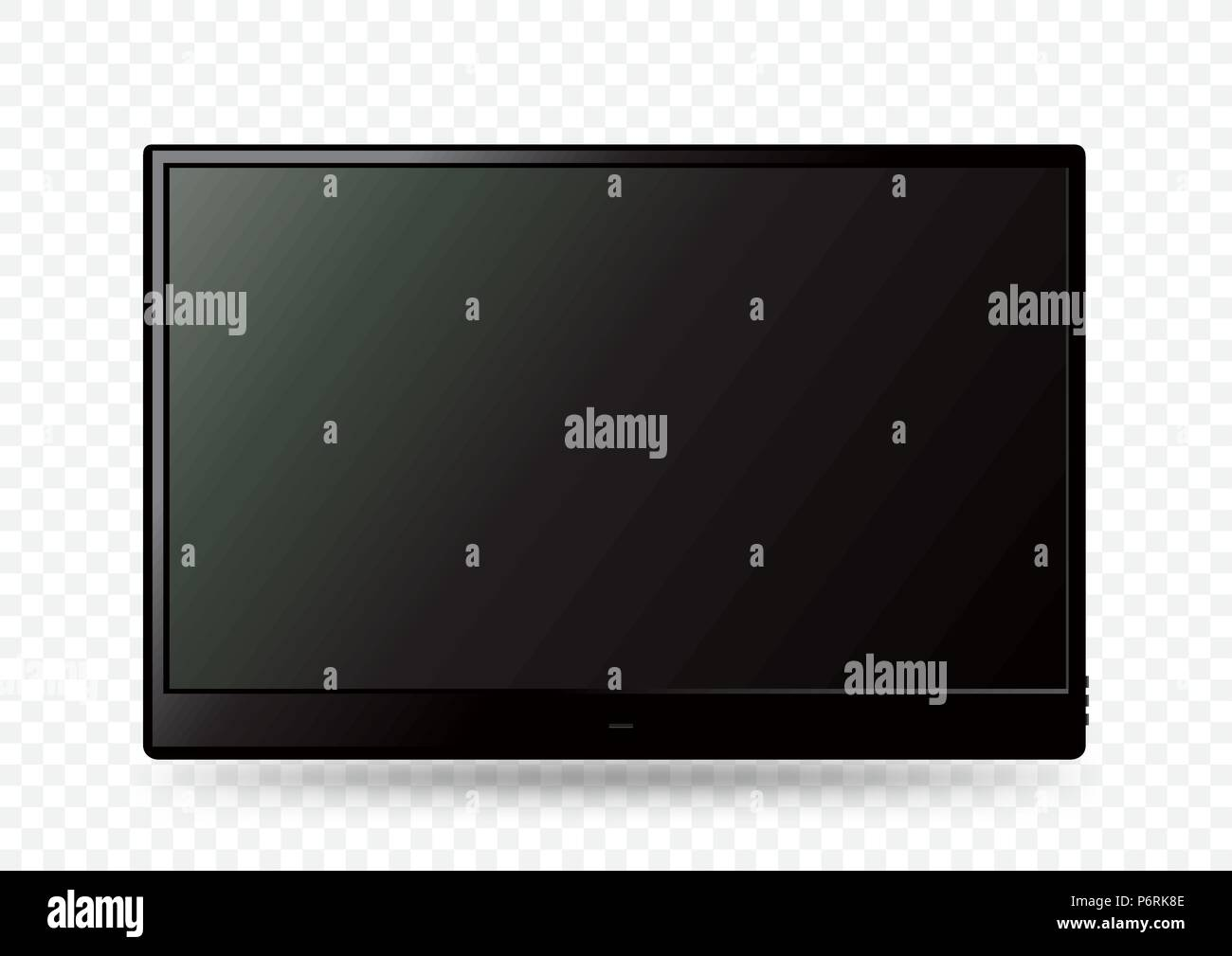 71f063f6a2d Big black wall TV icon template with shadow on white transparent background.  Television LED display screen. Flat media technology eletronic equipment.