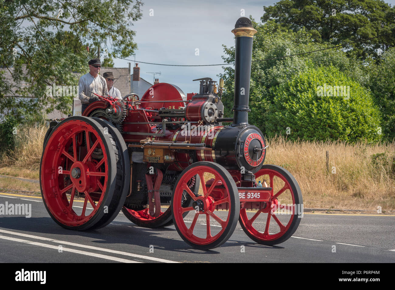 Wallis & Steevens General Purpose Engine 2394, 'Michelle Louise' steam traction engine at Acton Bridge in Cheshire North West England. - Stock Image