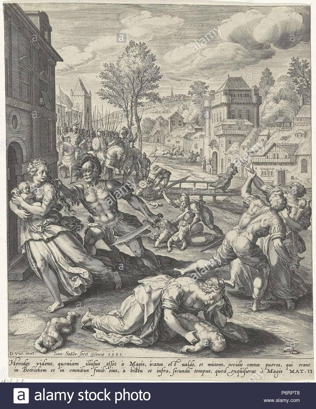 Infanticide in Bethlehem, Johann Sadeler (I), 1581.