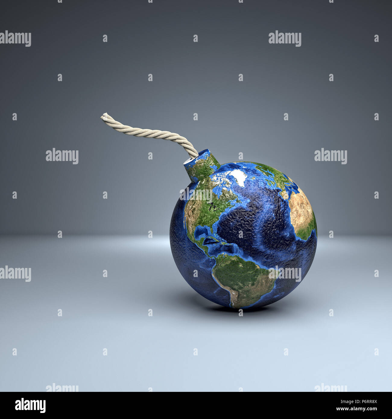 world bomb american side 3d rendering image - Stock Image